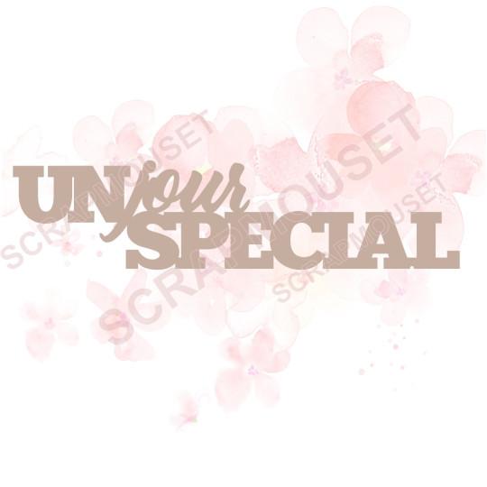 Mot Un jour spécial en carton bois SCRAPMOUSET 10,7 x 2,6 cm