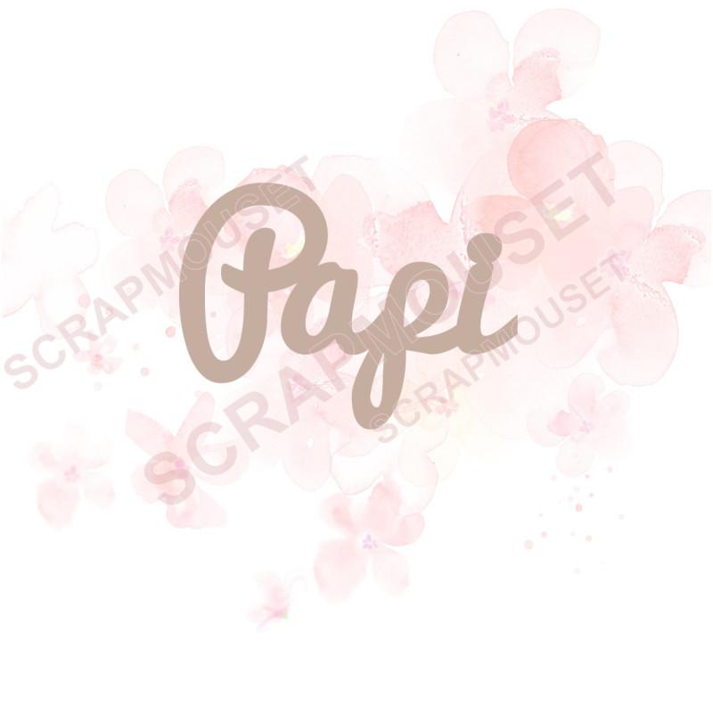 Mot Papi en carton bois SCRAPMOUSET