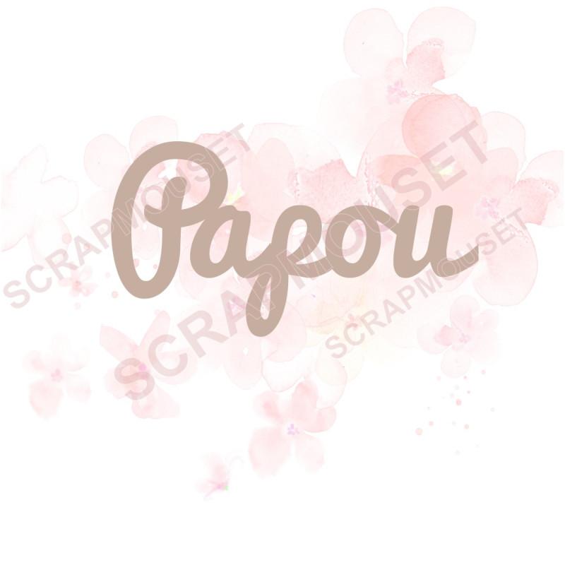 Mot Papou en carton bois SCRAPMOUSET