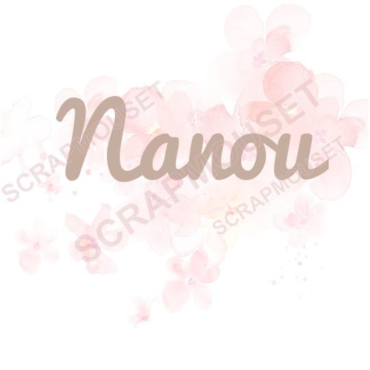 Mot Nanou en carton bois SCRAPMOUSET