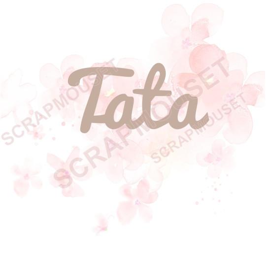 Mot Tata en carton bois SCRAPMOUSET