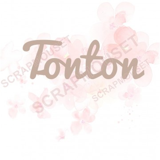 Mot Tonton en carton bois SCRAPMOUSET