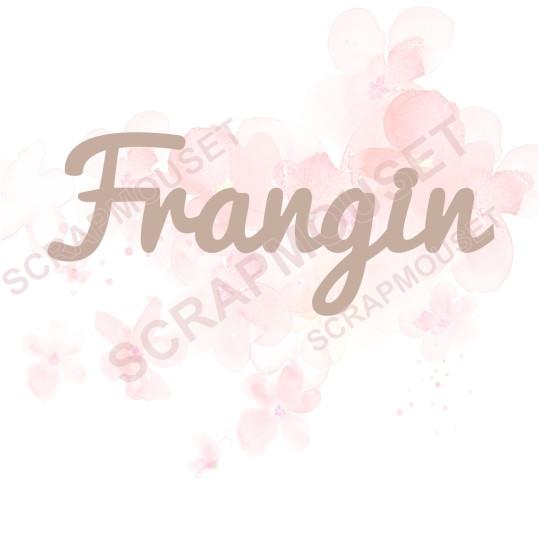 Mot Frangin en carton bois SCRAPMOUSET