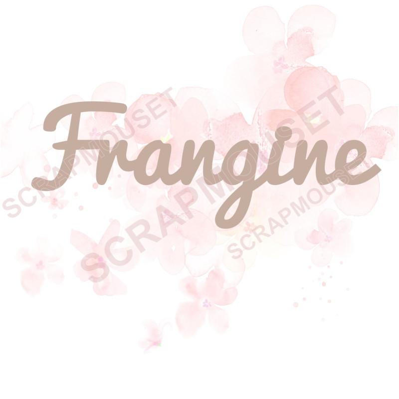 Mot Frangine en carton bois SCRAPMOUSET