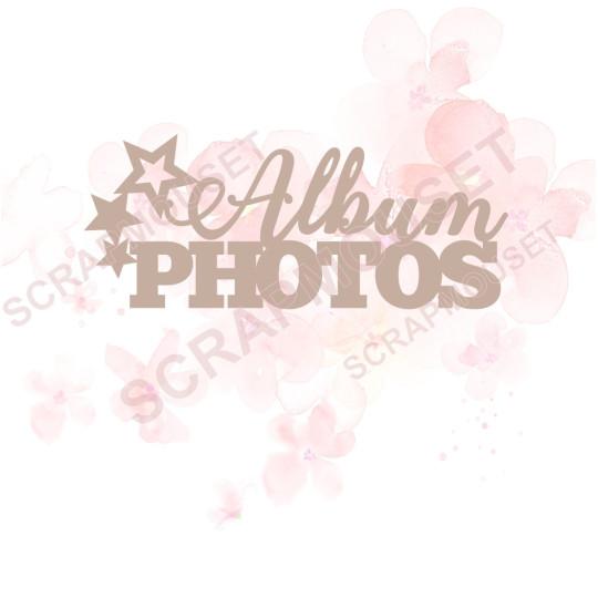 Mot Album photos en carton bois SCRAPMOUSET