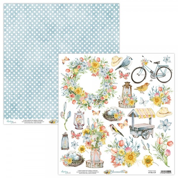 Papier scrapbooking motifs à découper collection Bloomville MINTAY BY KAROLA