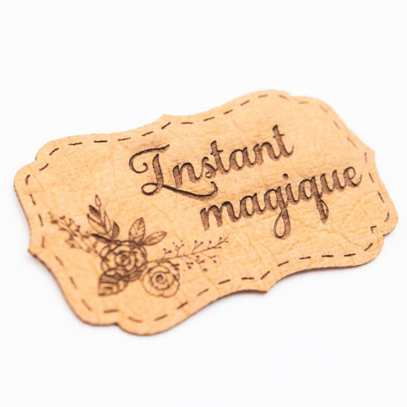 Étiquette en papier aspect cuir Scrapmouset