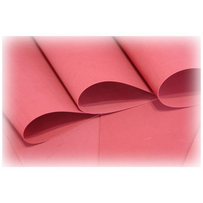 Feuille de mousse foamiran 25 cm x 35 cm Rouge bordeaux
