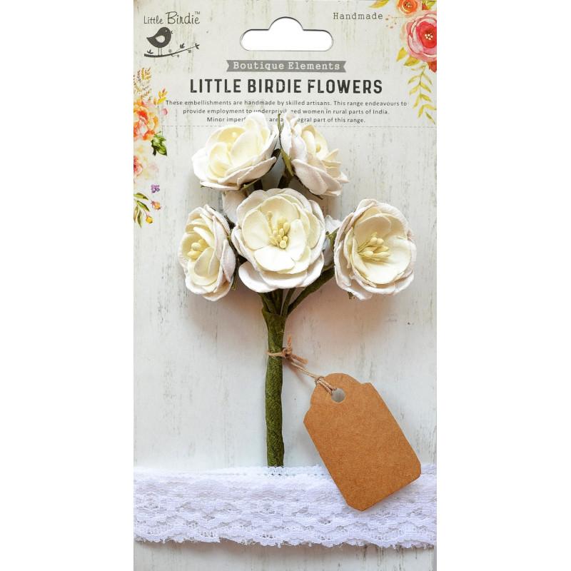Fleurs Mardelle Blanc LITTLE BIRDIE