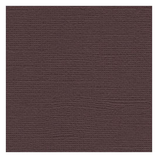 "Papier cardstock uni 30x30 ""Dark Chocolate"" - Scrapberry's"