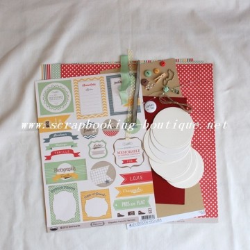"Kit mini-album rond ""Love this"""