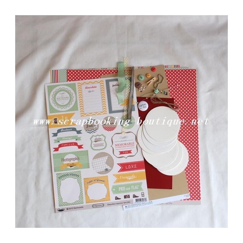 """Kit mini-album rond """"Love this"""""""