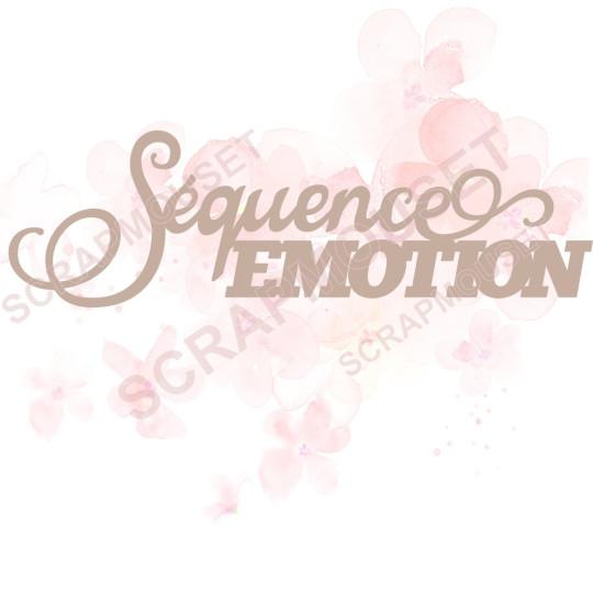 Mot Séquence émotion en carton bois SCRAPMOUSET