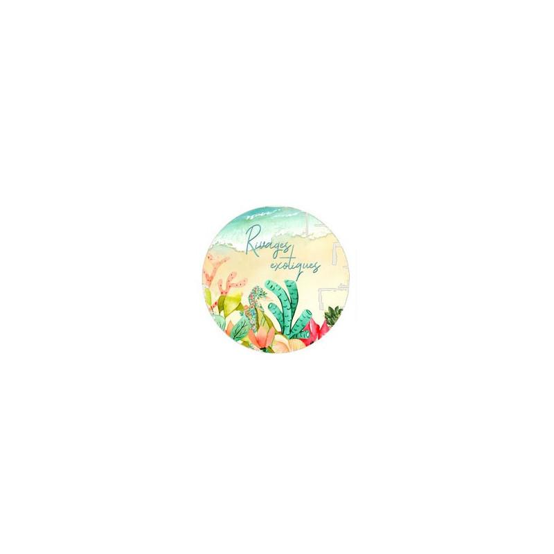 Badge Rivages exotiques collection Rivages exotiques LORELAÏ DESIGN