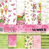 Set papiers scrapbooking 30 x 30 collection Watermelon Summer LASEROWE LOVE