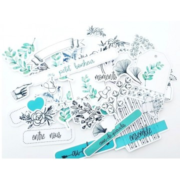 Die cuts cardstock collection Mon petit jardin fleuri MARGAUX CREATION