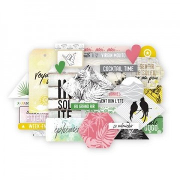 Die cuts cardstock collection Long Courrier LES ATELIERS DE KARINE