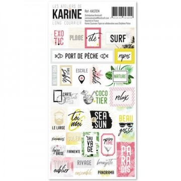 Stickers mots collection Long Courrier LES ATELIERS DE KARINE