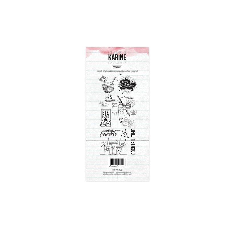 Set 10 tampons Cocktails collection Long Courrier LES ATELIERS DE KARINE