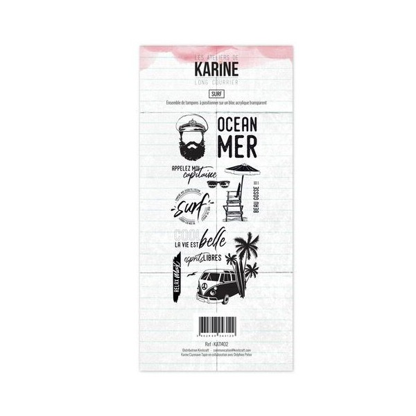 Set 10 tampons Surf collection Long Courrier LES ATELIERS DE KARINE