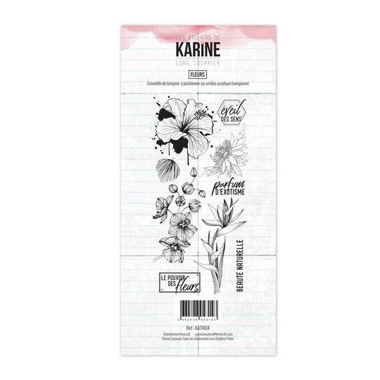 Set 9 tampons Fleurs collection Long Courrier LES ATELIERS DE KARINE