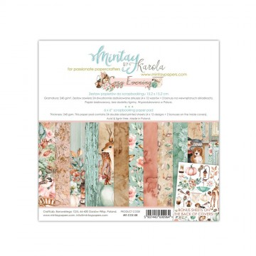Bloc 24 papiers scrapbooking 15 x 15 collection Cozy Evening MINTAY BY KAROLA