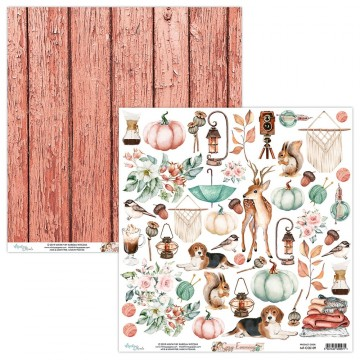 Papier scrapbooking motifs à découper collection Cozy Evening MINTAY BY KAROLA