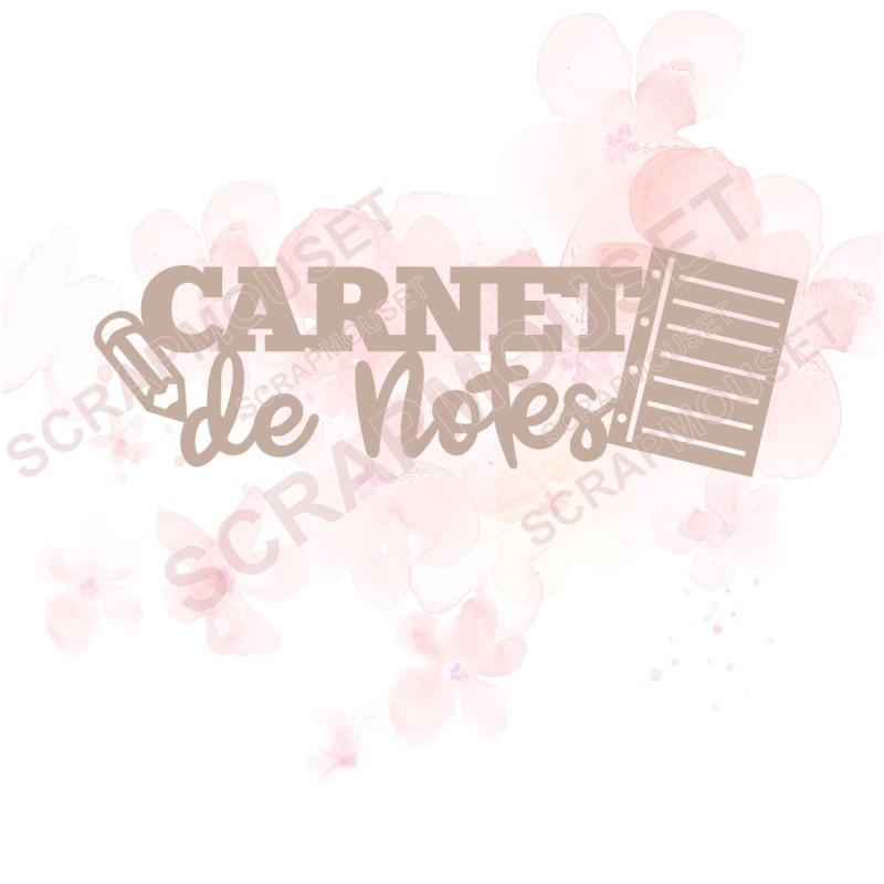 Mot Carnet de notes en carton bois SCRAPMOUSET