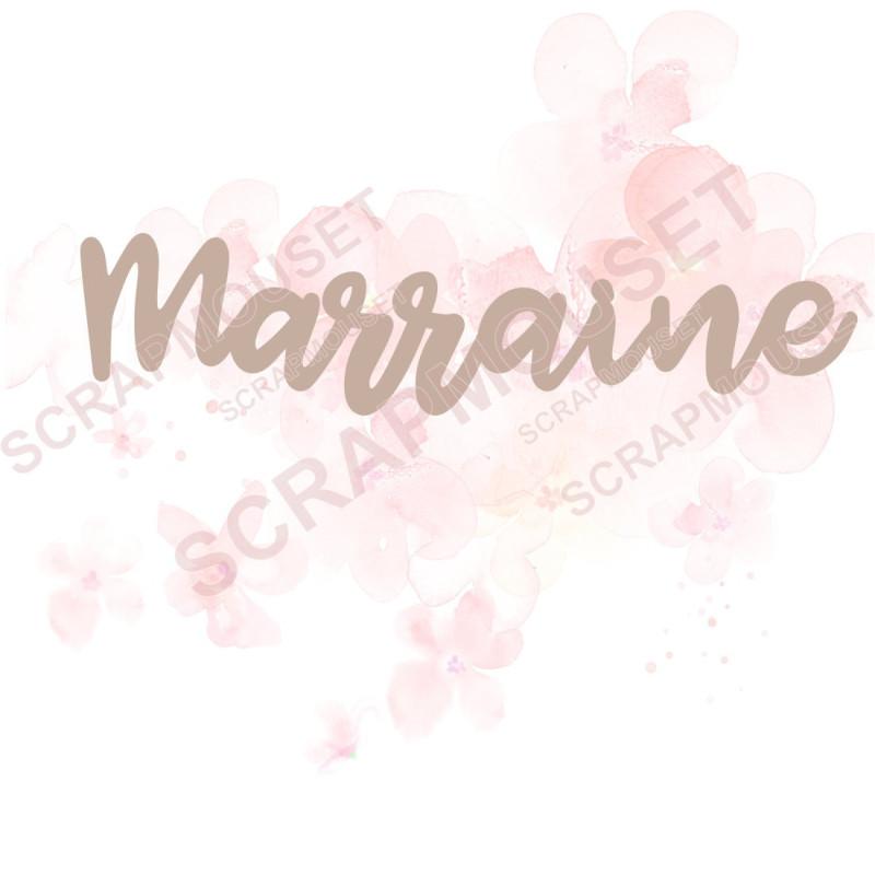 Mot Marraine en carton bois SCRAPMOUSET