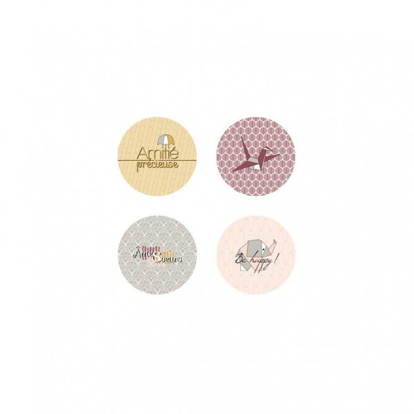 Lot 4 badges collection Âmes Soeurs MARIE-LN GEFFRAY