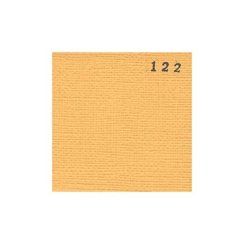 Papier cardstock uni 30 x 30 Jaune Abricot EPHEMERIA