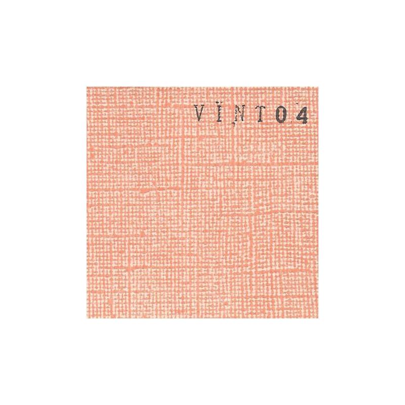 Papier cardstock uni 30 x 30 aspect vintage Pêche EPHEMERIA