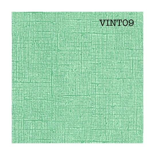 Papier cardstock uni 30 x 30 aspect vintage Vert Menthe EPHEMERIA