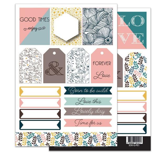 Planche d'étiquettes à découper collection So'Garden SOKAI