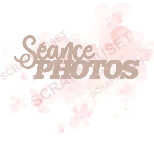 Mot Séance photos en carton bois SCRAPMOUSET