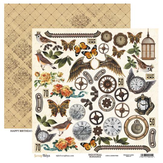 Papier scrapbooking motifs...