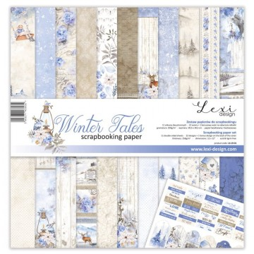 Collection 12 papiers scrapbooking 30 x 30 collection Winter Tales LEXI DESIGN