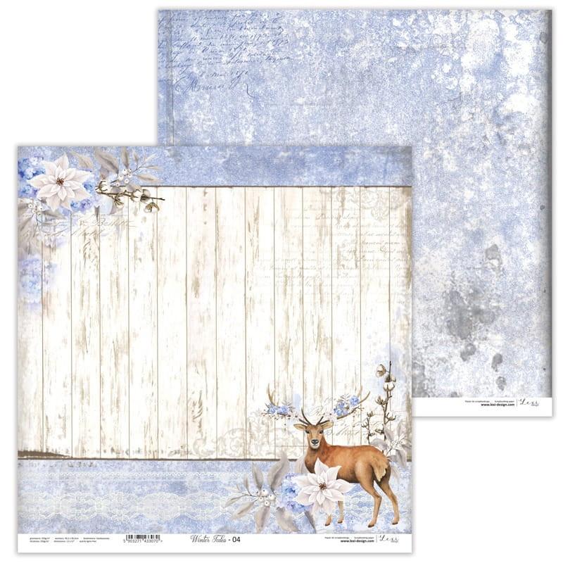 Set de 11 papiers scrapbooking 30 x 30 collection Winter Tales LEXI DESIGN