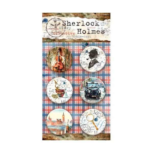 Lot 6 badges collection Sherlock Holmes BEE SHABBY