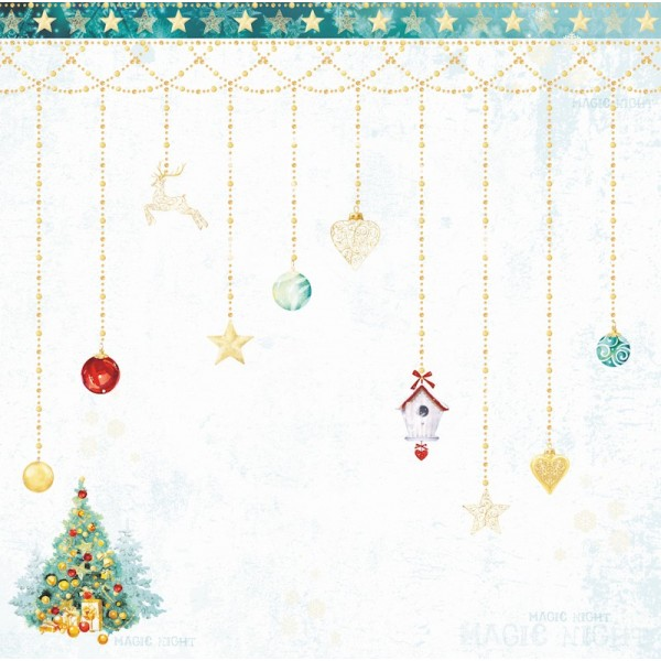 Set 8 papiers scrapbooking 30 x 30 collection Hello Winter BEE SHABBY