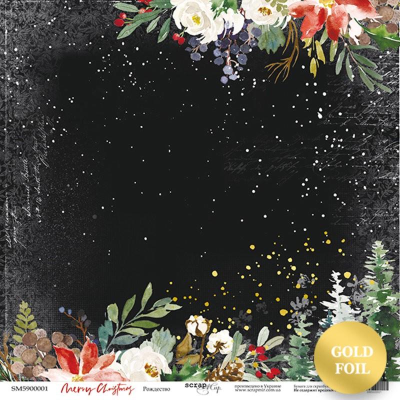 Set 10 papiers scrapbooking 30 x 30 collection Merry Christmas SCRAPMIR