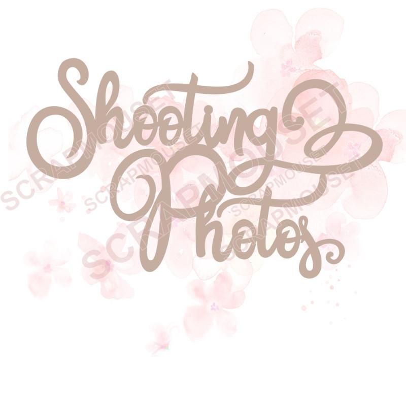 Mot Shooting photos en carton bois SCRAPMOUSET