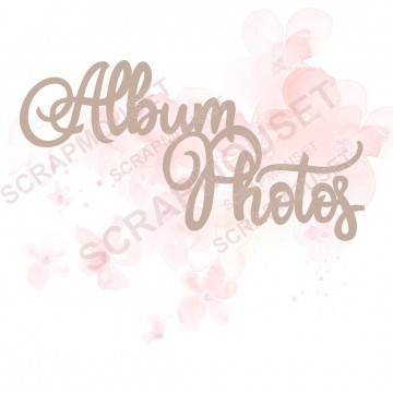 Mot Album photos design en carton bois SCRAPMOUSET