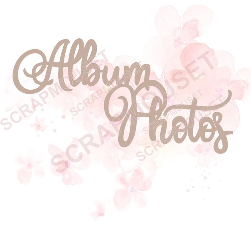 Mot Album photos design en carton bois SCRAPMOUSET