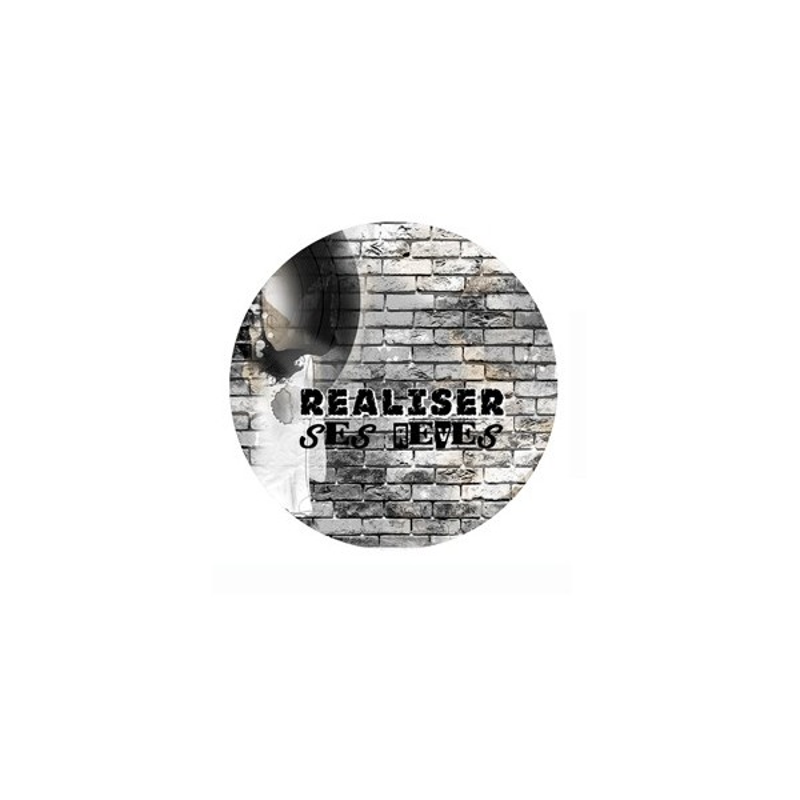 Badge Réaliser ses rêves collection Rock Family LORELAÏ DESIGN