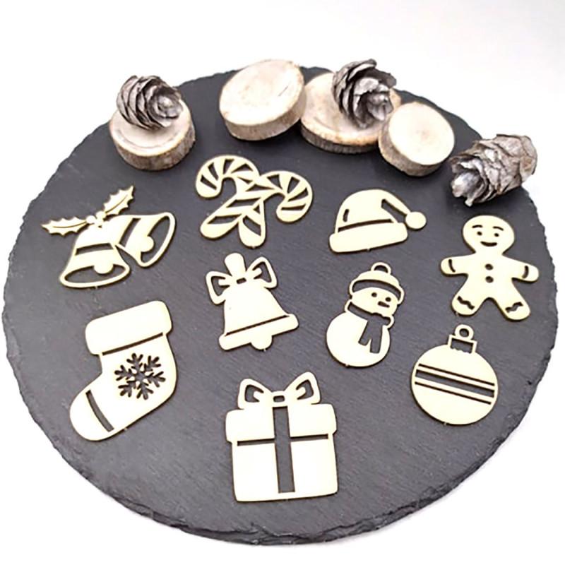 Chipboards petits objets de Noël en carton bois SCRAPMOUSET
