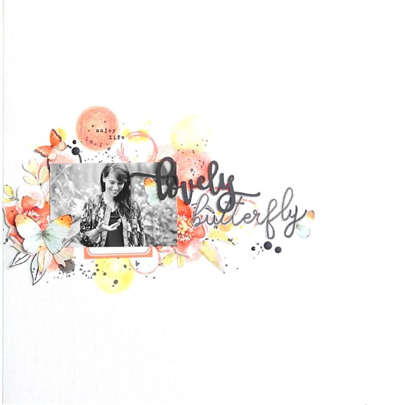 Mot lovely en Acrylique Noir 9,3 x 4,4 cm  SCRAPMOUSET
