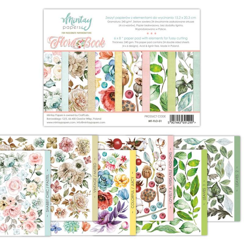 Bloc Florabook fleurs et feuillages à découper MINTAY BY KAROLA
