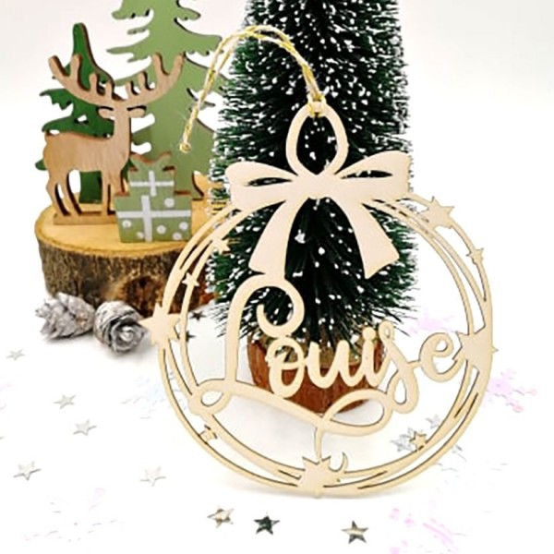 Boule de Noël et petites étoiles personnalisée avec votre prénom SCRAPMOUSET