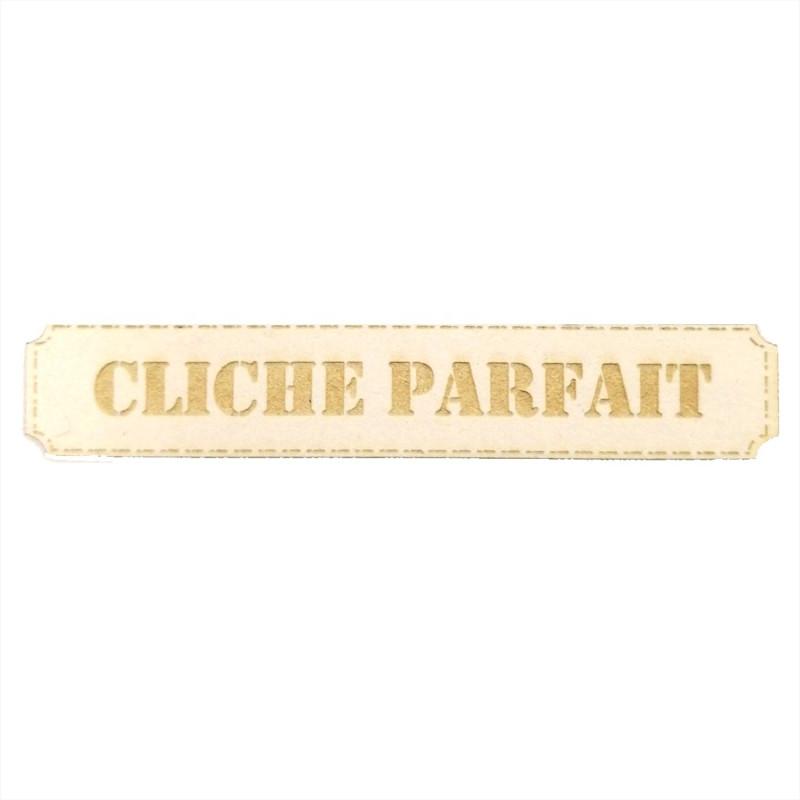 Étiquette rectangulaire cliché parfait en carton bois Scrapmouset